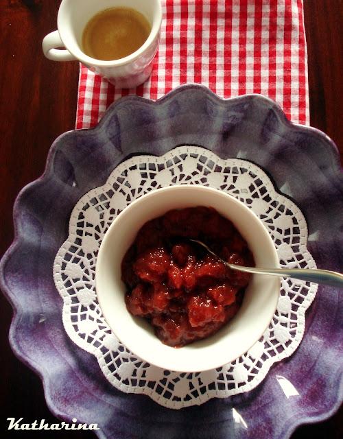Erdbeer Espresso Konfitüre Marmelade Hochzeit Gastgeschenk