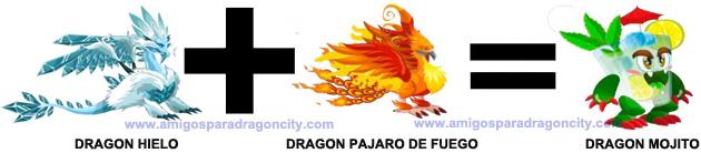 como conseguir el dragon mojito en dragon city combinacion 3