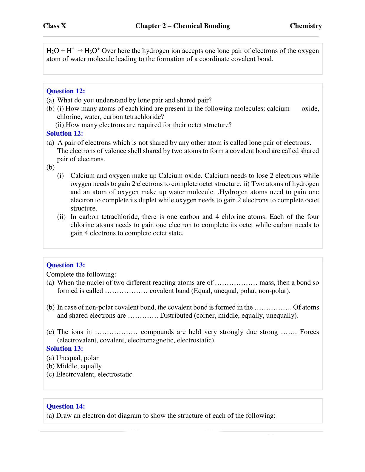 Chapter 8 covalent bonding workbook answer key