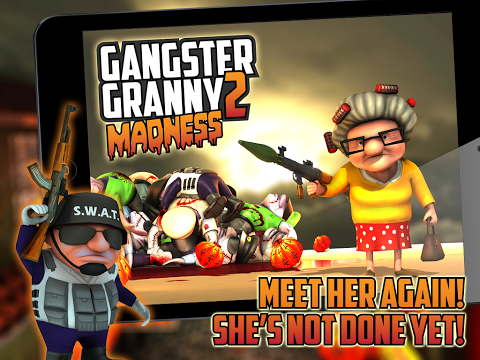 Gangster Granny 2 Madness APK OBB DATA 1.0 Modded Unlimited
