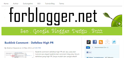 SEO Friendly Blogger template Terpopuler