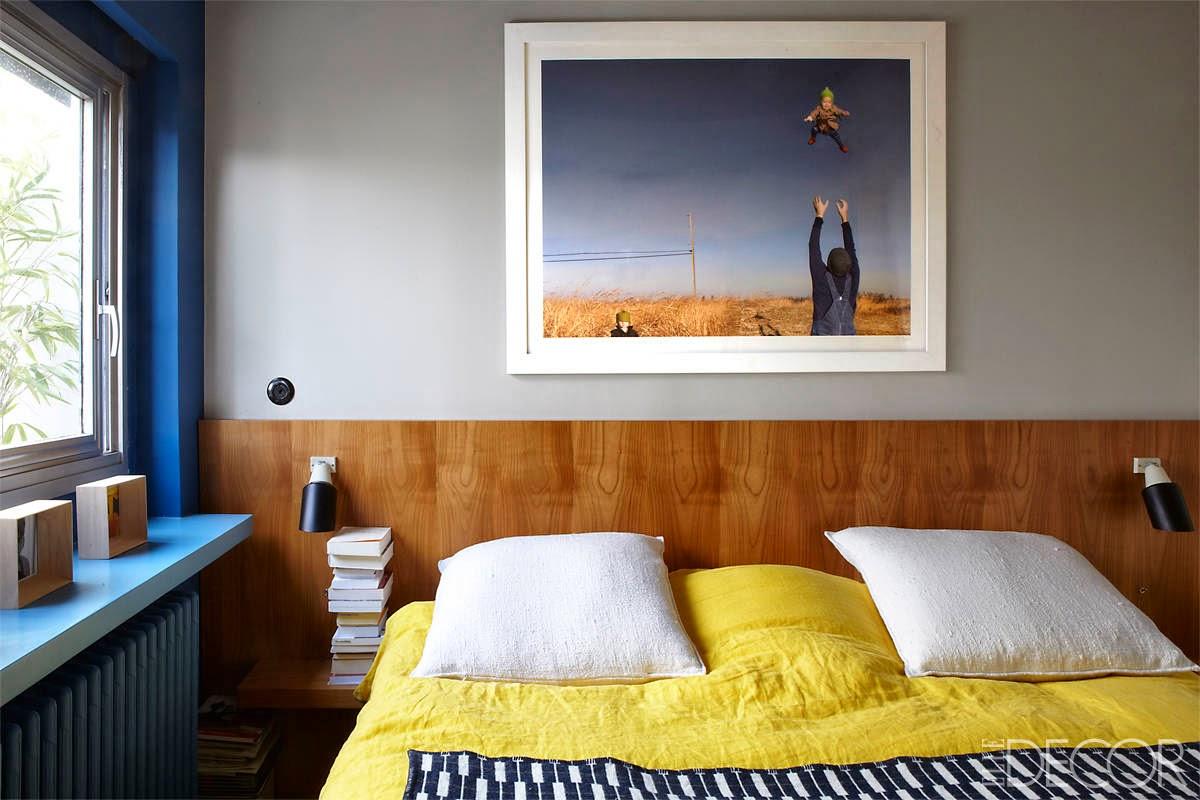 Renovierung einer Gertud Stein Wohnung im Sinne Le Corbusier in Paris: Schlafzimmer in Blau