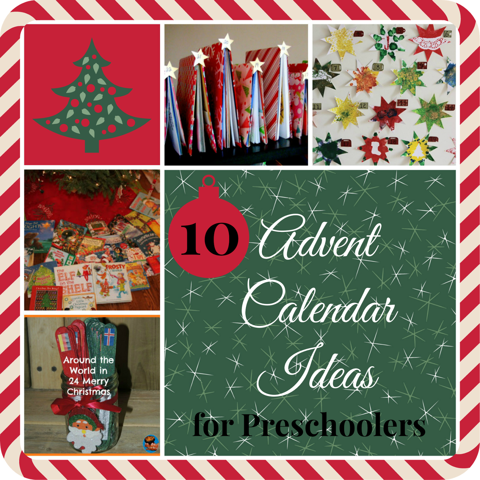 Christmas Calendar Ideas Preschool : Mama pea pod christmas advent calendar ideas for