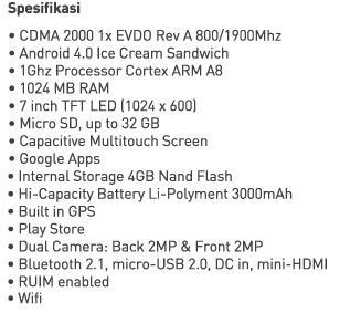 Harga Tablet Terbaru Smartfren Andromax Tab 7.0 New