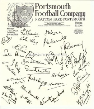Signed Pmpey Programme of the late 1950's