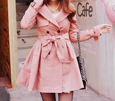 casaco longo  rosa