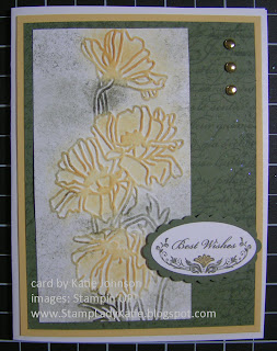 Texture Embossed card made with Stampin'UP!'s Flower Garden embossing folder.