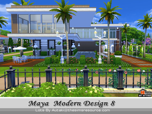 Casa moderna maya designer the sims 4 pirralho do game for Sims 4 modelli di casa moderna