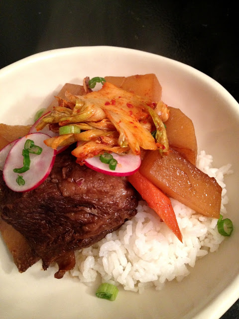Recipe: Short rib stew with caramelized kimchee