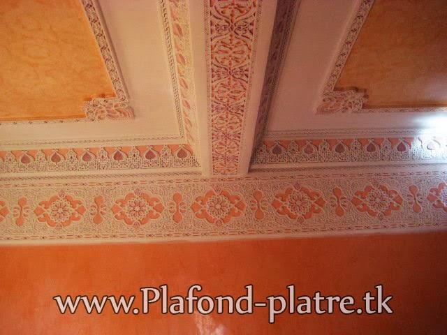 Boutique salon marocain 2016 2017 plafond sculpte for Plafond marocain 2016