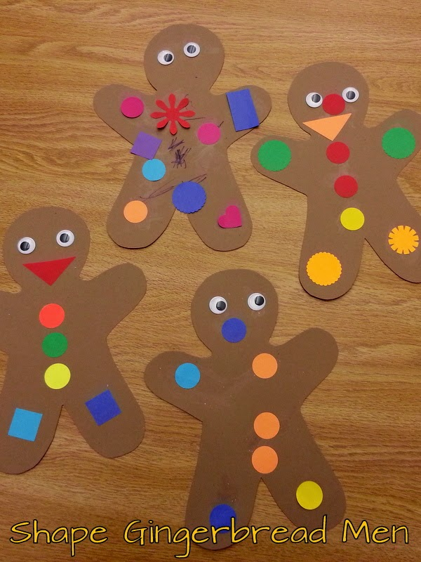 Choices for children shape gingerbread men for Craft projects for guys