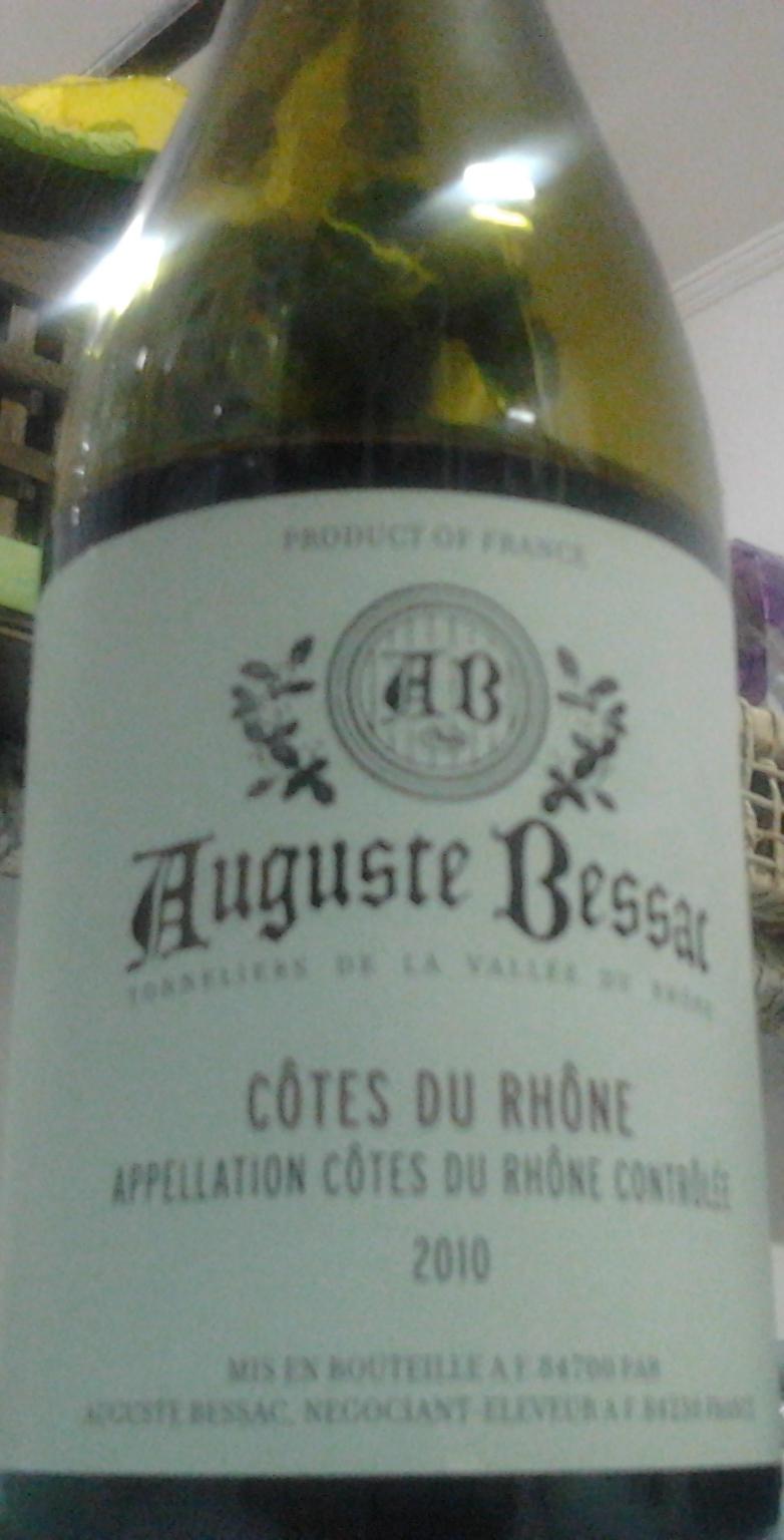 En ffillo auguste bessac c tes du rh ne 2010 for Auguste chabaud cote