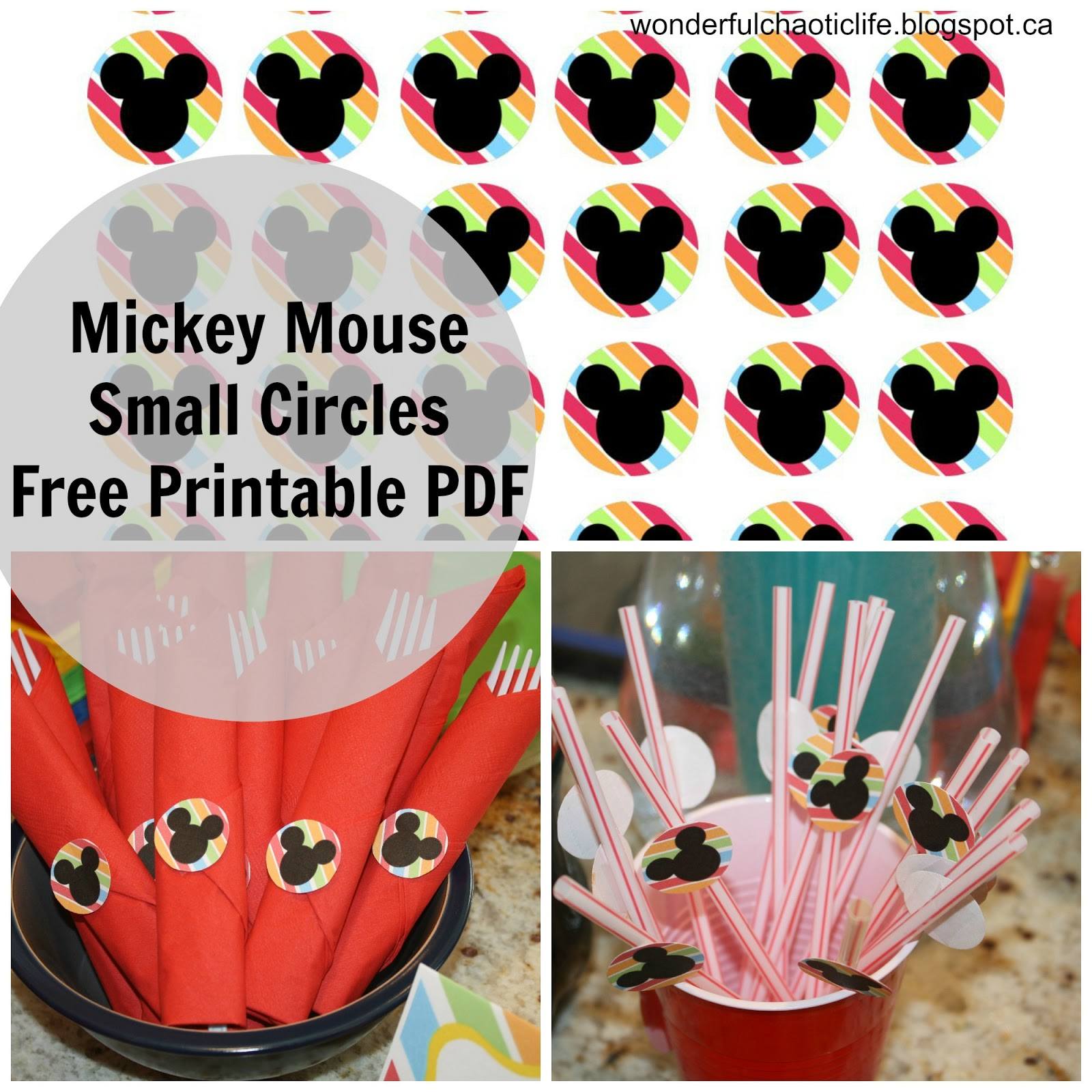 Mickey Mouse Birthday Images Free ~ It s my wonderful chaotic life mickey mouse birthday party free printables