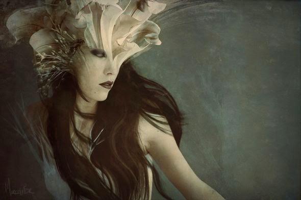 Marcela Bolívar deviantart fotografia ilustração foto-manipulação photoshop sombria surreal mulheres