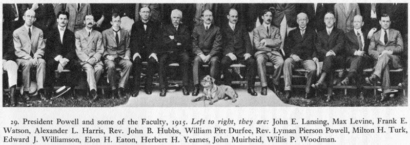 Group photo of faculty at Hobart and Williams Smith Colleges, c 1914.