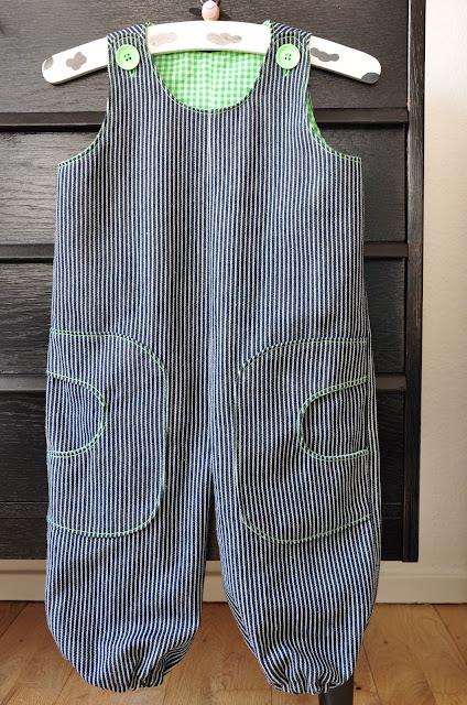 hjemmesyet drenge bukser mælkedrengestriber