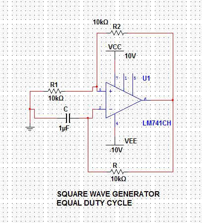square wave generator using op amp ic 741 electronics rh niyazk007 blogspot com