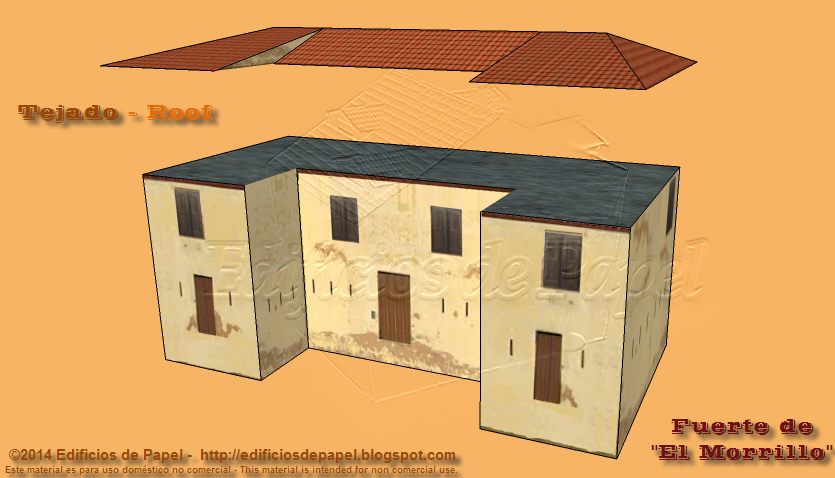 Esta entrega incluye el fichero con el que construir el tejado del fuerte