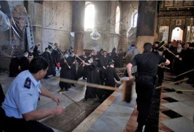 Briga e Vassoradas na igreja da Natividade