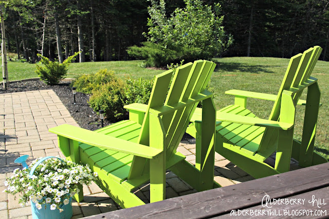 1 PM116 Im Lovin Lime Green Adirondack Chairs