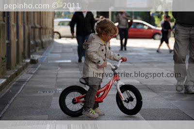 Teo estrena bicicleta