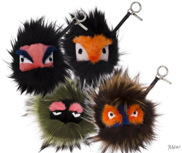 Bag Charms Fendi Fur Monster