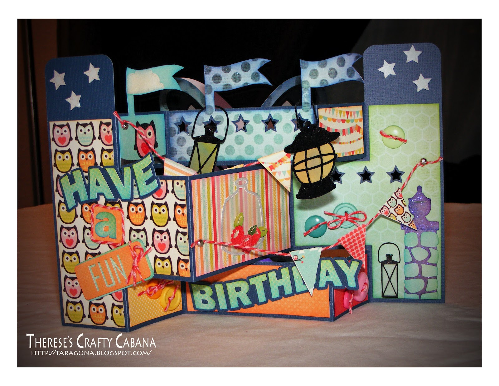 Therese s Crafty Cabana Fun Flag Birthday Card