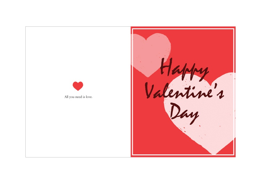 Valentines card printable