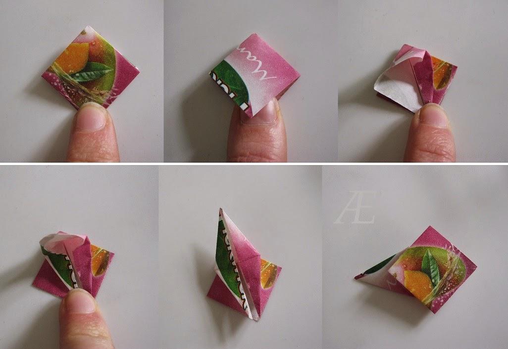 DIY origami stjerne af tebreve
