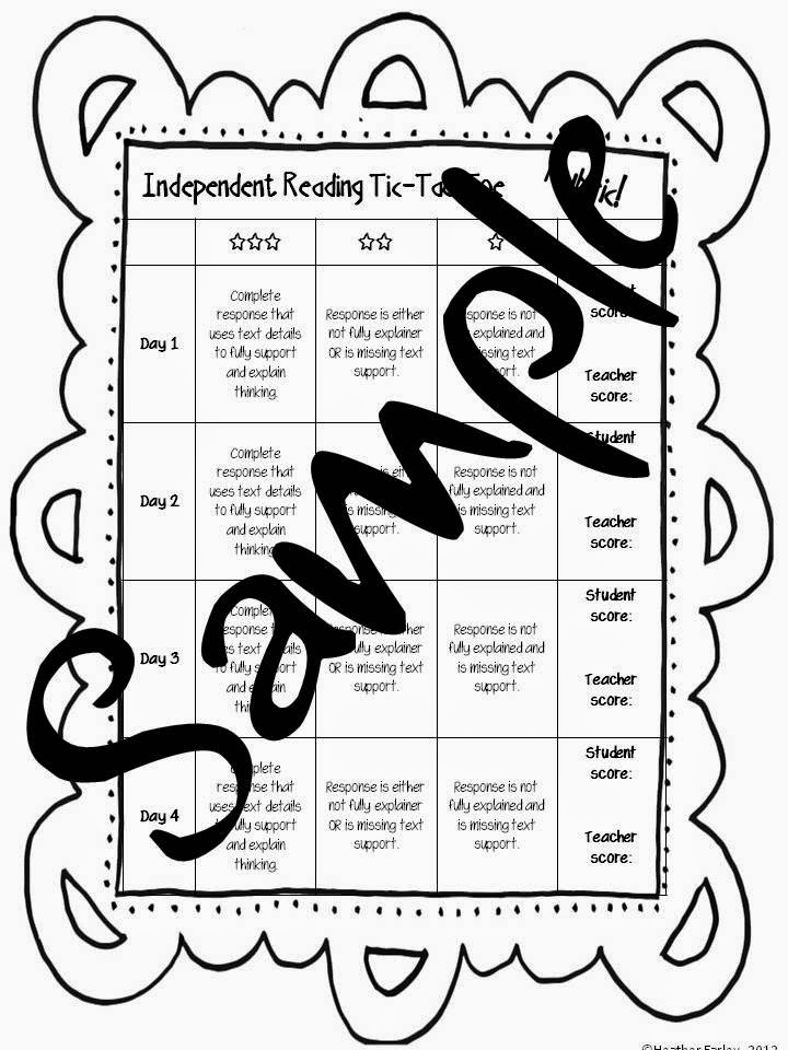 http://www.teacherspayteachers.com/Product/Independent-Reading-Reflection-Choice-Board-Tic-Tac-Toe-Freebie-274710