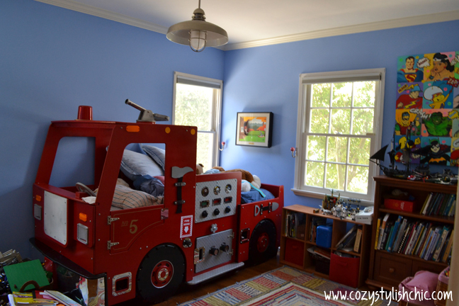 Boy 39 s room remodel the transformation from juvenile to - Bedroom ideas for 3 year old boy ...