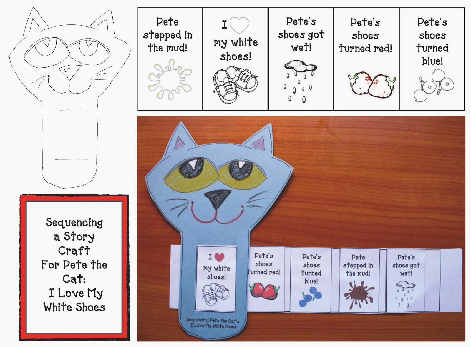 students sequence and then retell Pete the Cat s I Love My White Shoes    Pete The Cat I Love My White Shoes