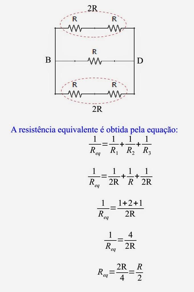 Circuito Rlc Serie Exercicios Resolvidos : Física professor roberto associação mista de resistores