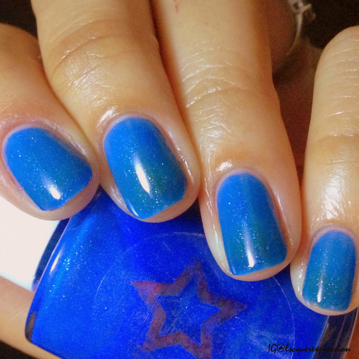 swatch and review of Dancing Dolphins nail polish by Shinespark