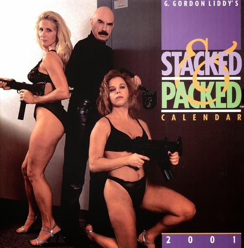 Gordon Liddy - Stacked & Packed, 2001 girls and guns Calendar