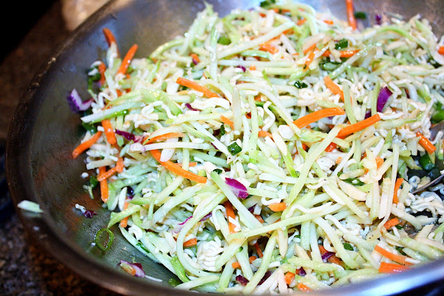 Healthy Broccoli Slaw recipe from Rae Gun Ramblings