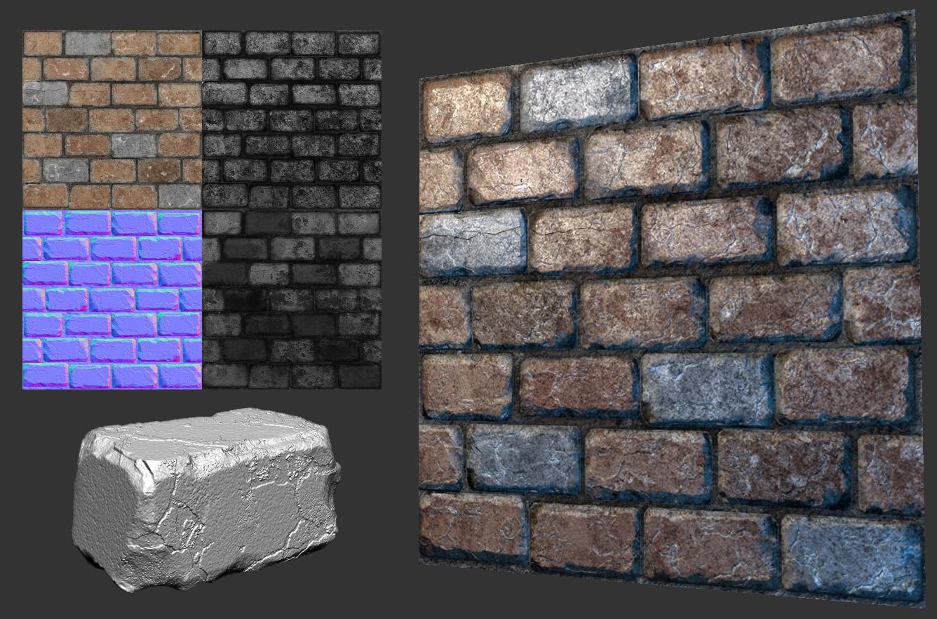 Wall Art For Brick : Don pham environment artist art brick wall