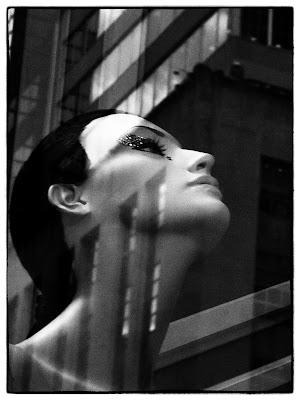 Moody,  #BGWindows Mannequin Head Shot, Bergdorf's, NYC