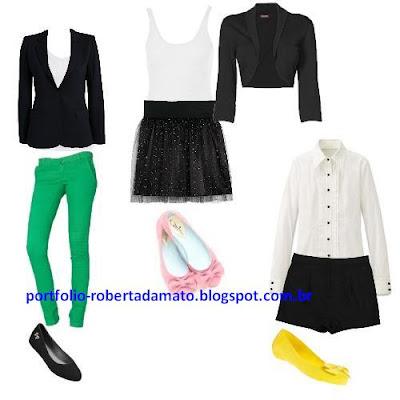 Look do Dia - Blazer, Sapatilhas, Saia de Tule e Camisas