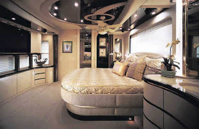Top most elegant beds and bedrooms in the world modern stylish round edge bed - The most beautiful bedroom in the world ...
