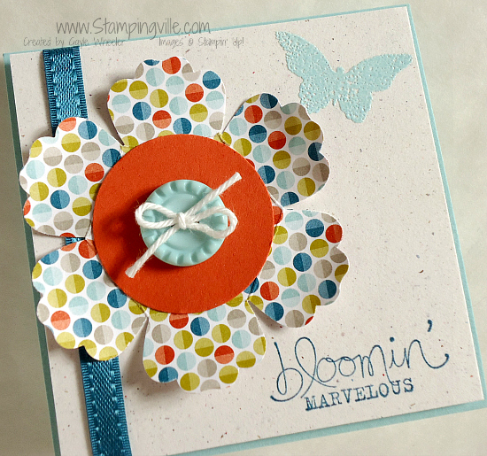 Mini 3x3 card with Stampin' Up! Sale-a-bration products