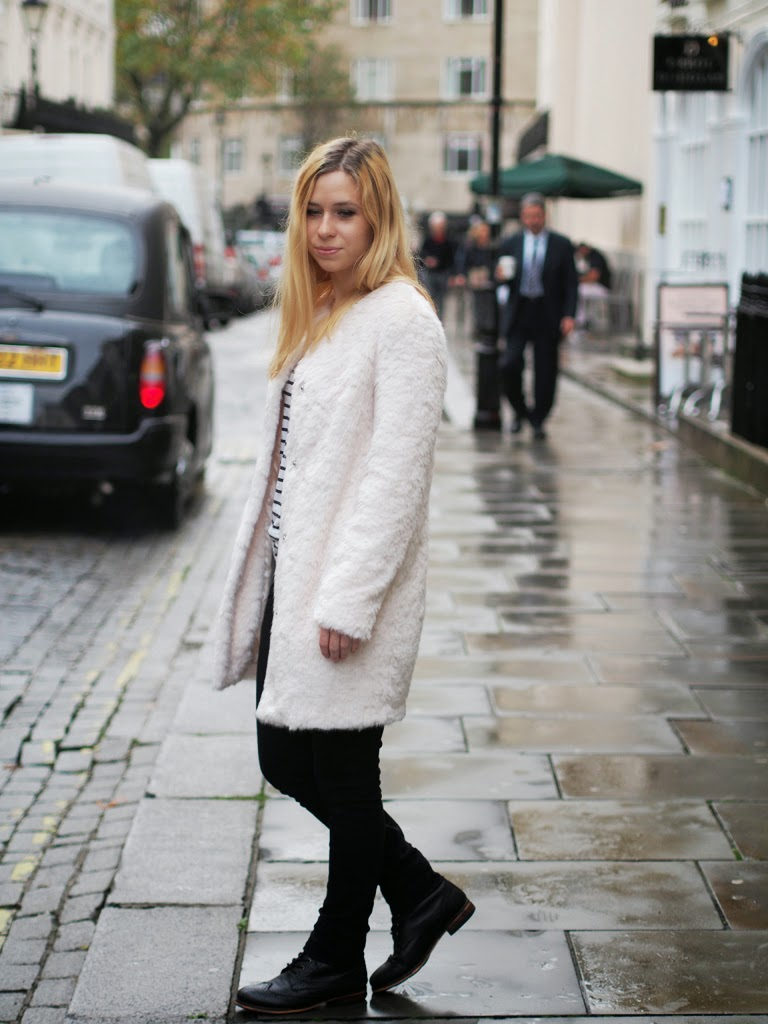 styling the white fur coat