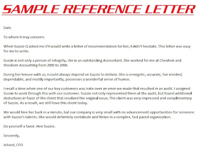 sample personal character reference letter