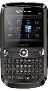 Micromax Q75 Price in India, Micromax Q75 Mobile Features, Micromax Q75 Mobile Specifications