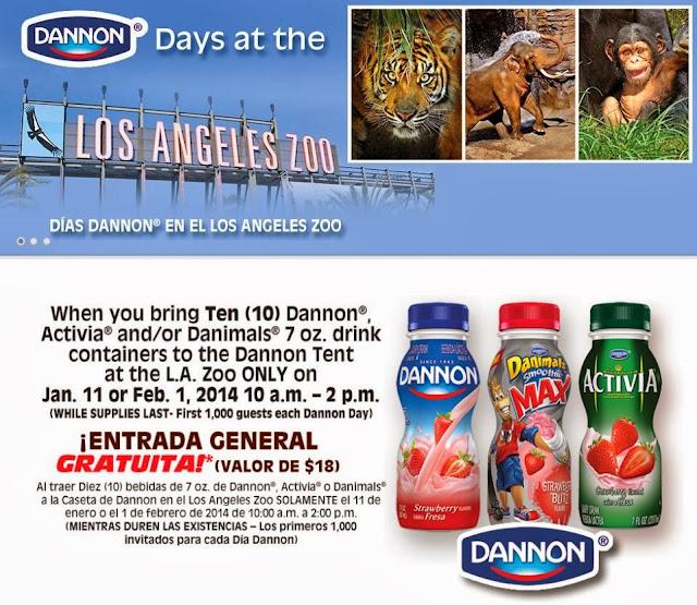 Los Angeles Smoothie: Montebello Mom: Los Angeles Zoo Free Admisson W/ Dannon