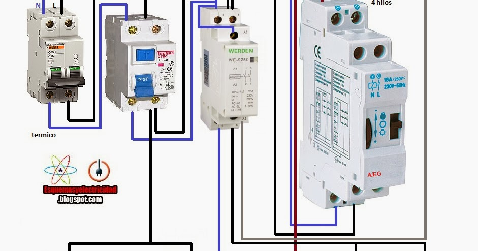 Electrical diagrams  minute ladder 4 wires with    contactor