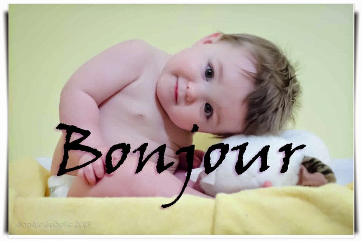 Photo bébé garçon  bonjour