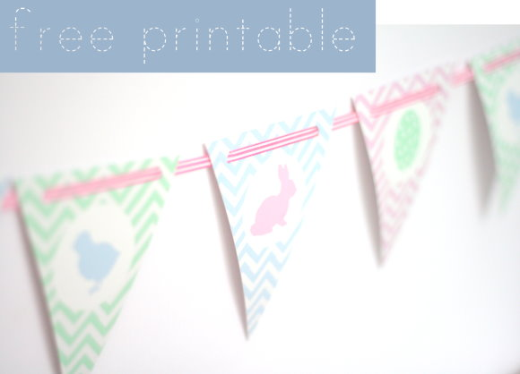 free printable easter bunting