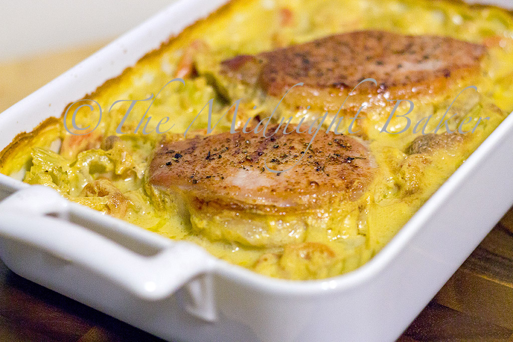 Baked pork chops on rice the midnight baker pork chops on rice forumfinder Image collections