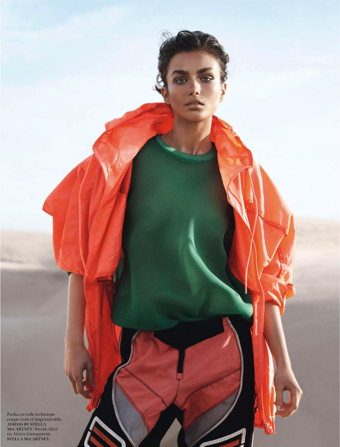 Andreea Diaconu by David Sims, styled by Emmanuelle Alt for Vogue Paris